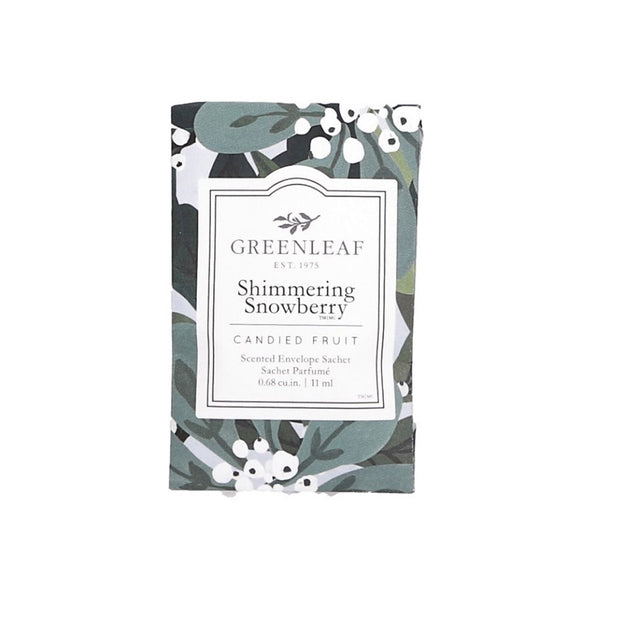 Greenleaf Shimmering Snowberry Small Scented Sachet