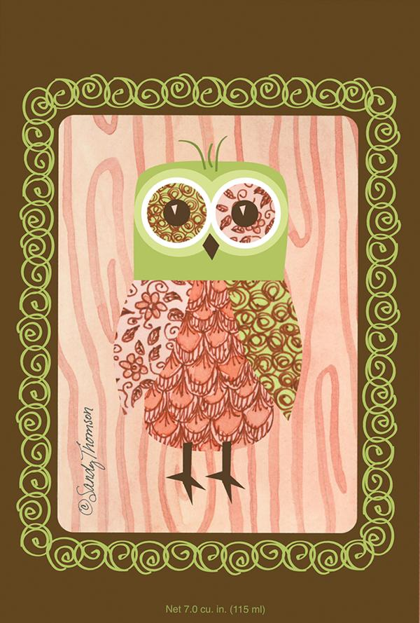 Willowbrook Pink Owl Large Scented Sachet