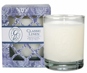 Greenleaf Classic Linen Signature Candle -OLD DESIGN