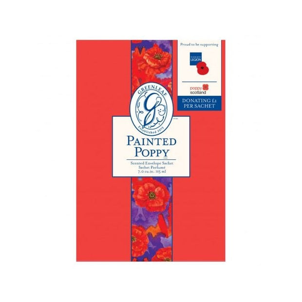 Greenleaf Painted Poppy RBL Large Scented Sachet