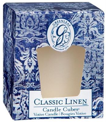 Greenleaf Classic Linen Candle Cube - OLD DESIGN