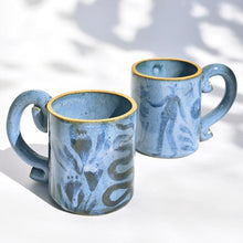 Load image into Gallery viewer, Tall Gardener's Mug in Cornflower Blue
