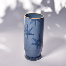 Load image into Gallery viewer, Ada Vase with Quilted Stars in Cornfield Blue - Grande