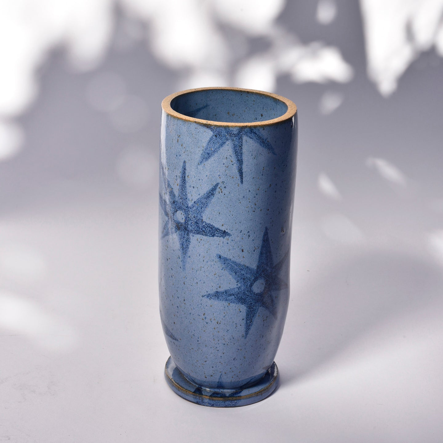 Ada Vase with Quilted Stars in Cornfield Blue - Grande