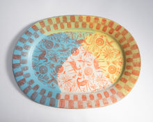 Load image into Gallery viewer, Madras Oval Platter