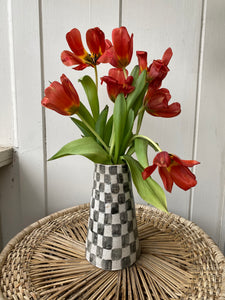 Tall Checkered Vase