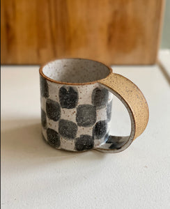 Checkered Tall Mug