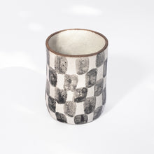 Load image into Gallery viewer, Checkered Tall Cup in Black