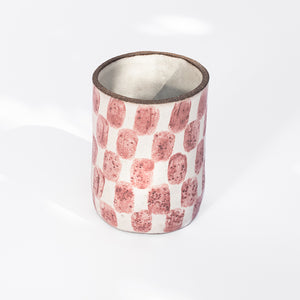 Checkered Tall Cup in Pink