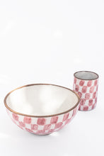 Load image into Gallery viewer, Checkered Tall Cup in Pink