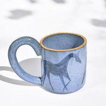 Load image into Gallery viewer, Tall Wild Horse Mug in Cornfield Blue
