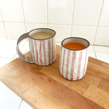 Load image into Gallery viewer, Pink & Yellow Stripe Tall Mug