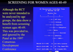 Screening Mammography Saves Lives: Daniel B. Kopans MD