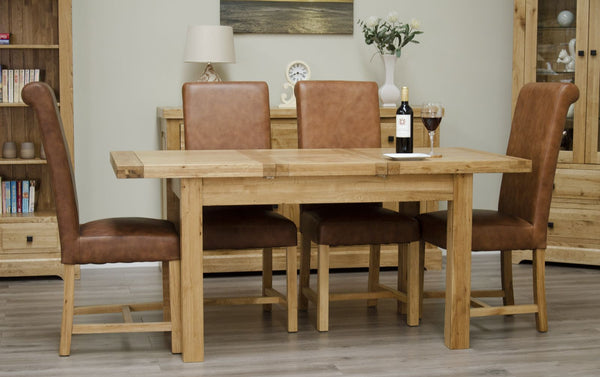 Warwick Oak Butterfly Extending Table