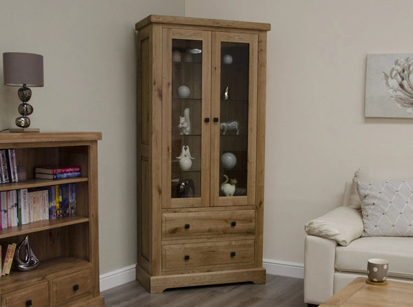 Warwick Oak Glass Display Cabinet
