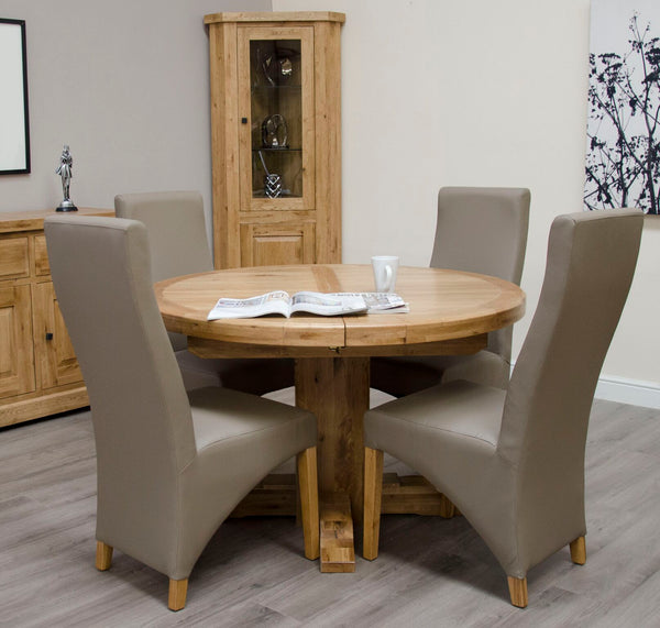 Warwick Oak Round Extending Table