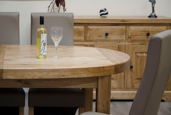 Warwick Oak Super Oval Extending Table