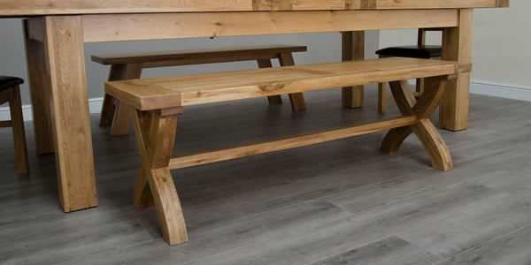 Warwick Oak X Leg Bench