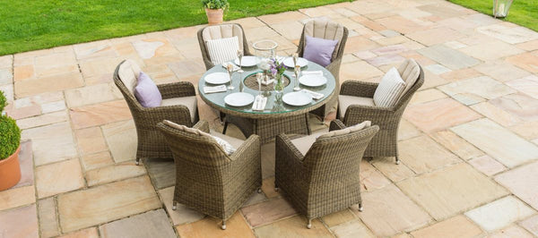 Winchester Round Ice Bucket Dining Set With 6 Venice Chairs