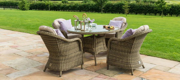 Winchester Round Dining Set With 4 Heritage Chairs
