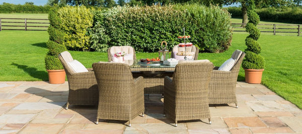 Winchester Oval Ice Bucket Dining Set With 6 Venice Chairs