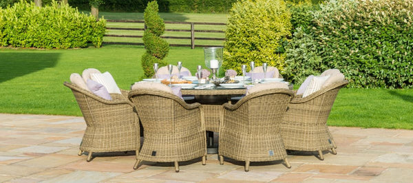 Winchester Round Ice Bucket Dining Set With 8 Heritage Chairs