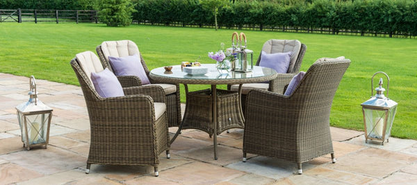 Winchester Round Dining Set With 4 Venice Chairs