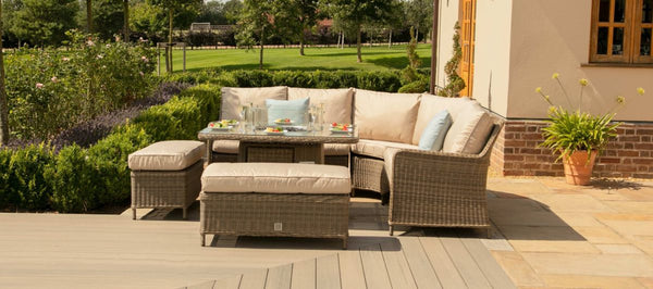 Winchester Royal Corner Dining Sofa Set With Fire Pit