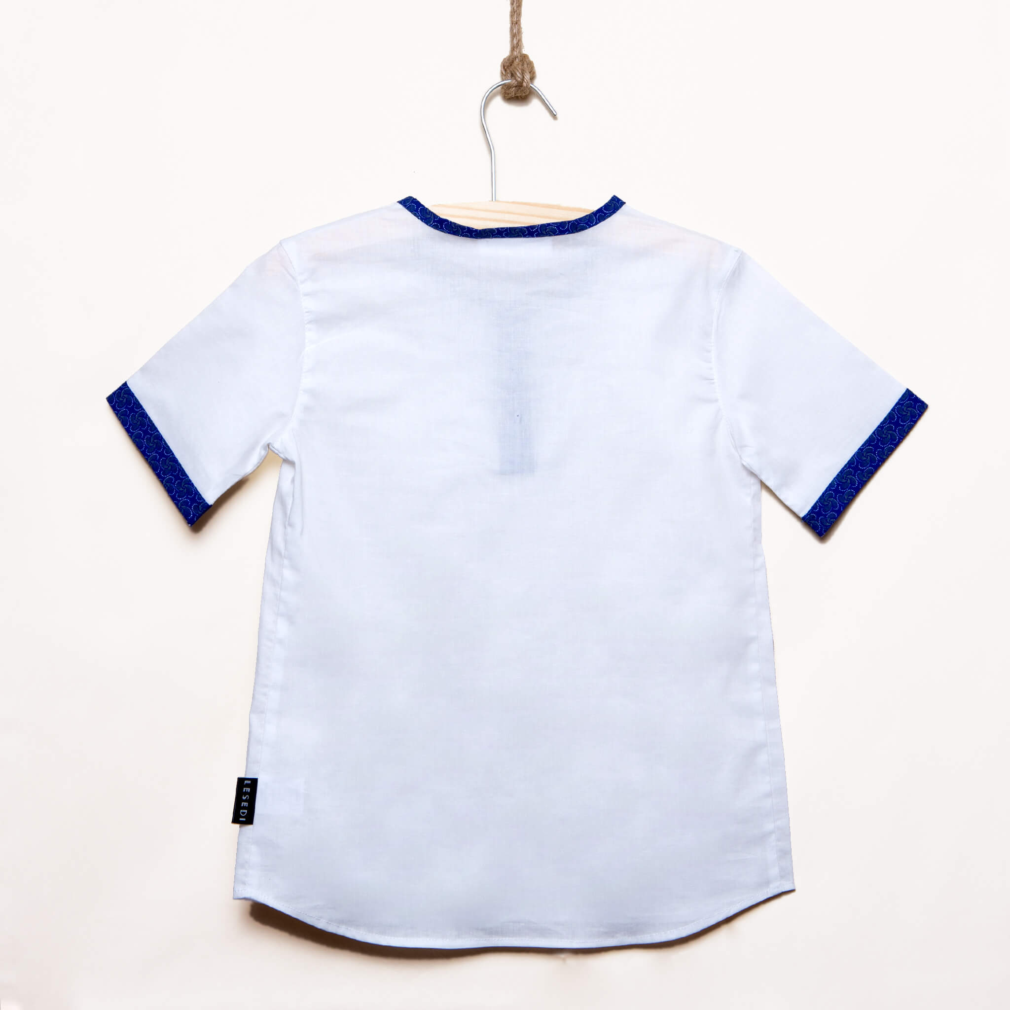 Boys Half Placket Short Sleeves Shirt Simon - LESEDI