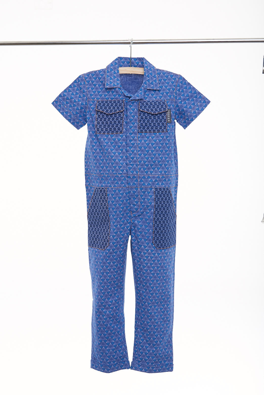 "Boys Short Sleeves Boilersuit ""Nkululo"" - LESEDI"