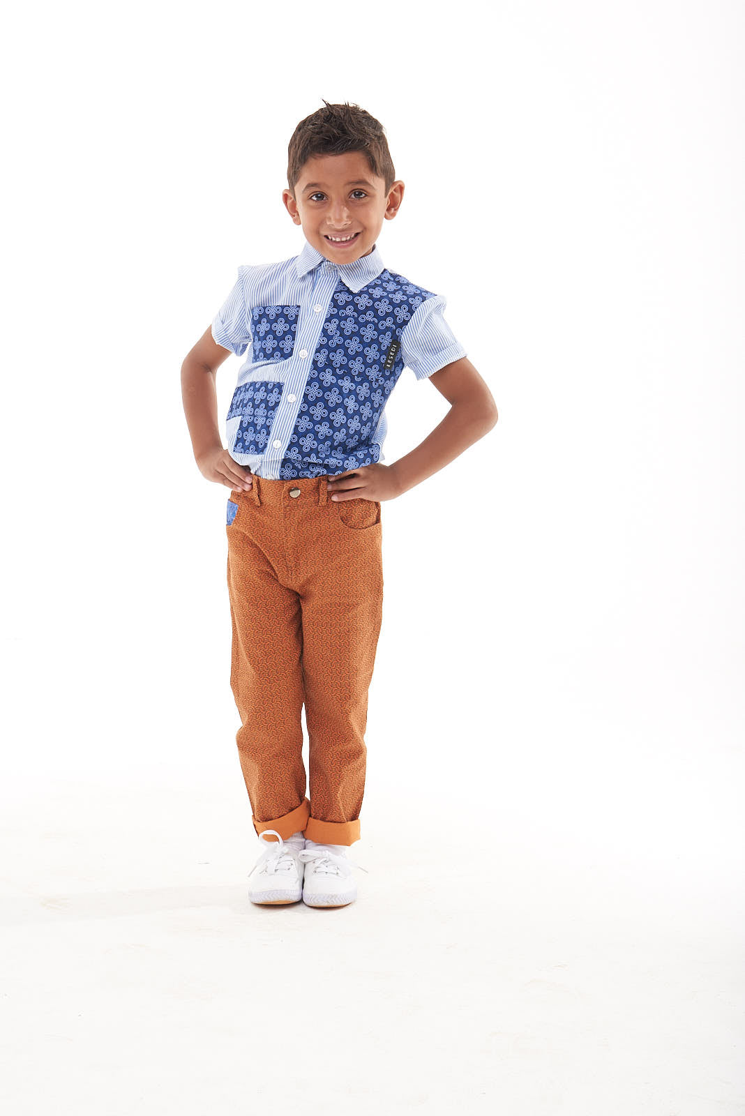 "Boys Short Sleeve Shirt ""Ethan"" - LESEDI"