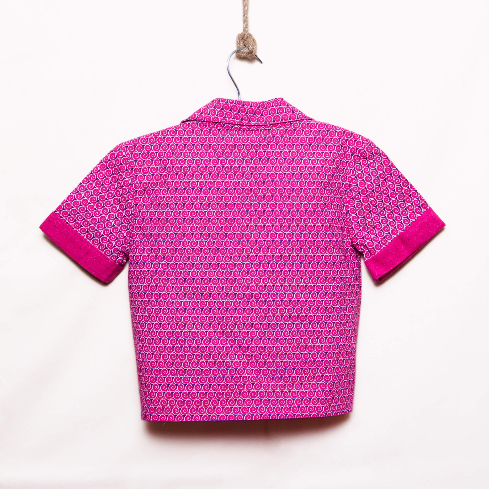 Girls Short Sleeves Front Tie Crop Top Thoriso - LESEDI