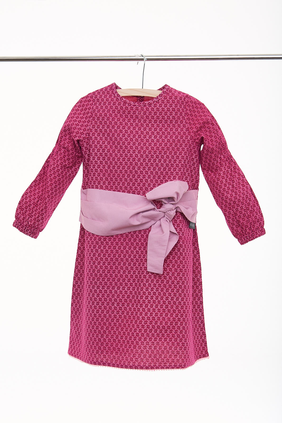 "Girls Long Sleeve Tie Wrap Dress ""Luciana"" - LESEDI"