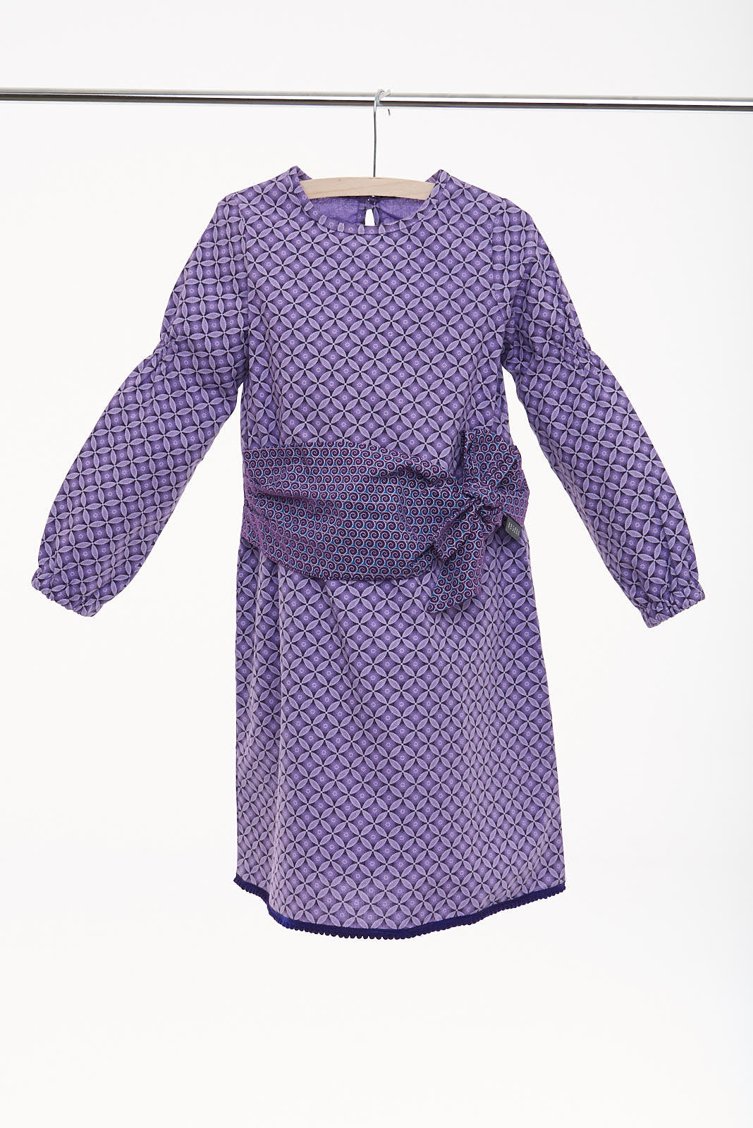 "Girls Long Sleeve Tie Wrap Dress ""Nokthula"" - LESEDI"