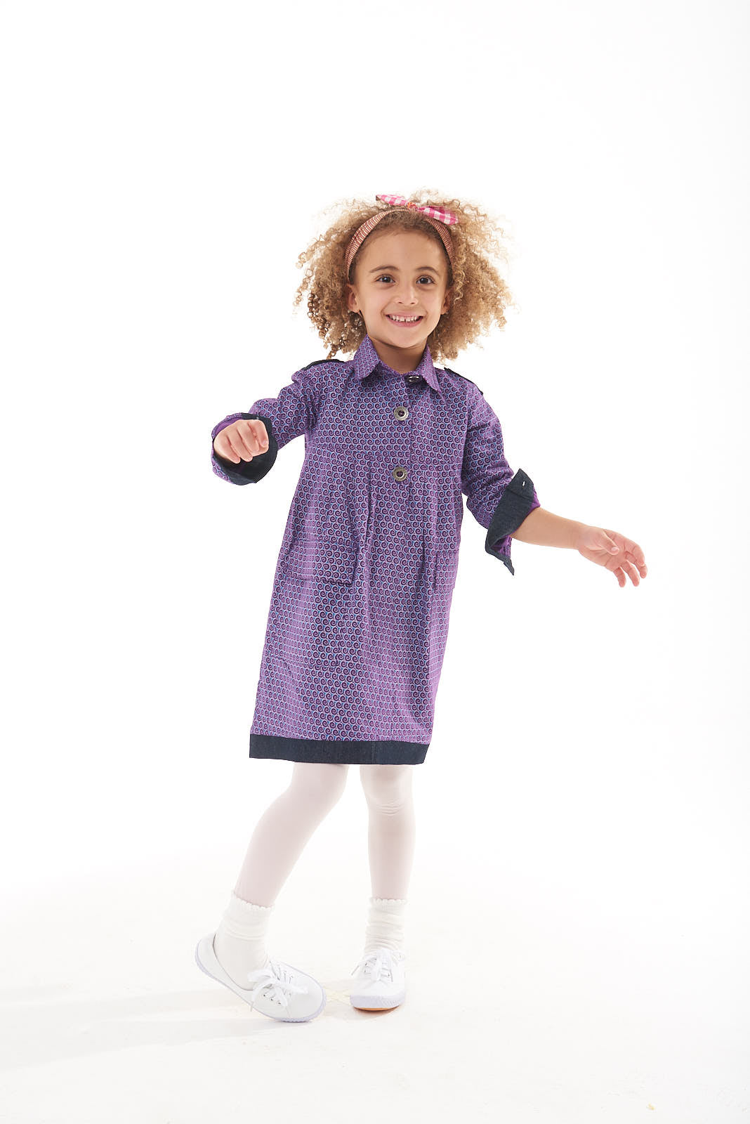 "Girls Long Sleeve Utility Dress ""Danica"" - LESEDI"