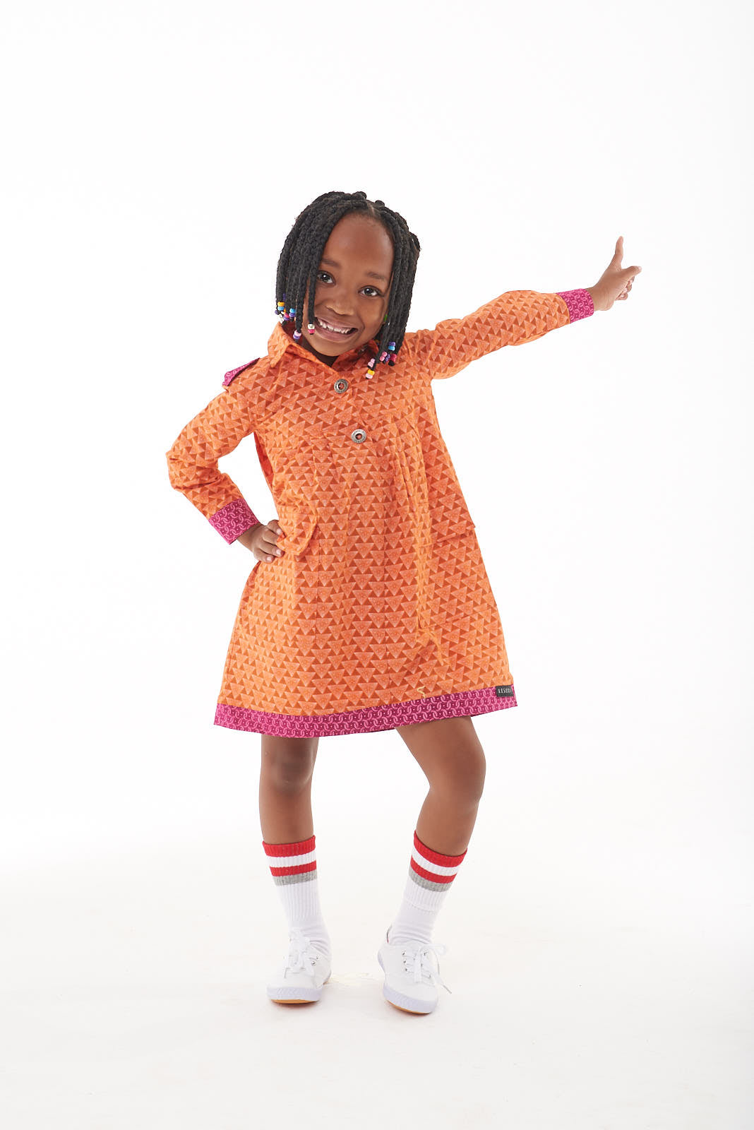 "Girls Long Sleeve Utility Dress ""Nonkanyiso"" - LESEDI"