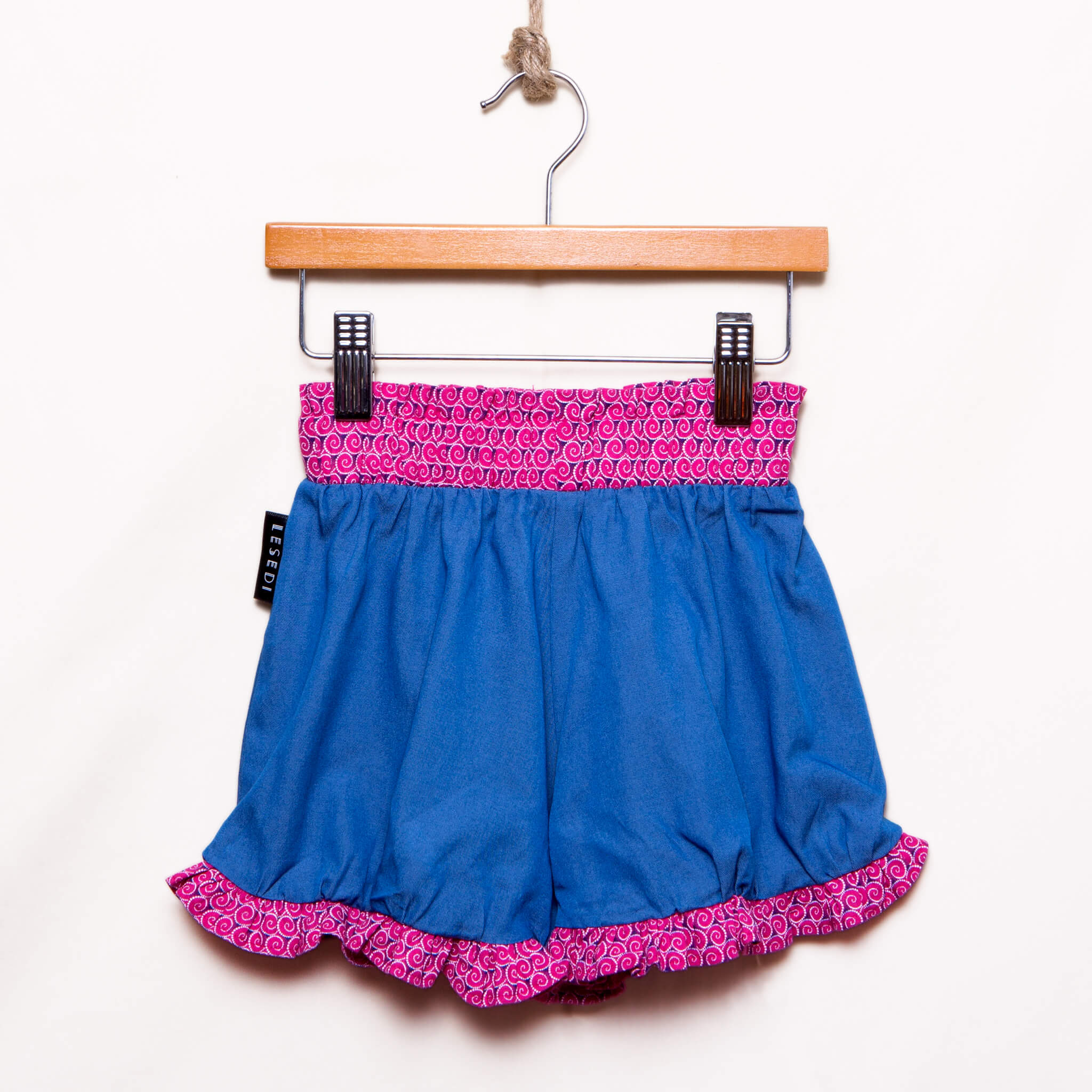 Girls Ruffled Hem Denim Shorts Elena - LESEDI