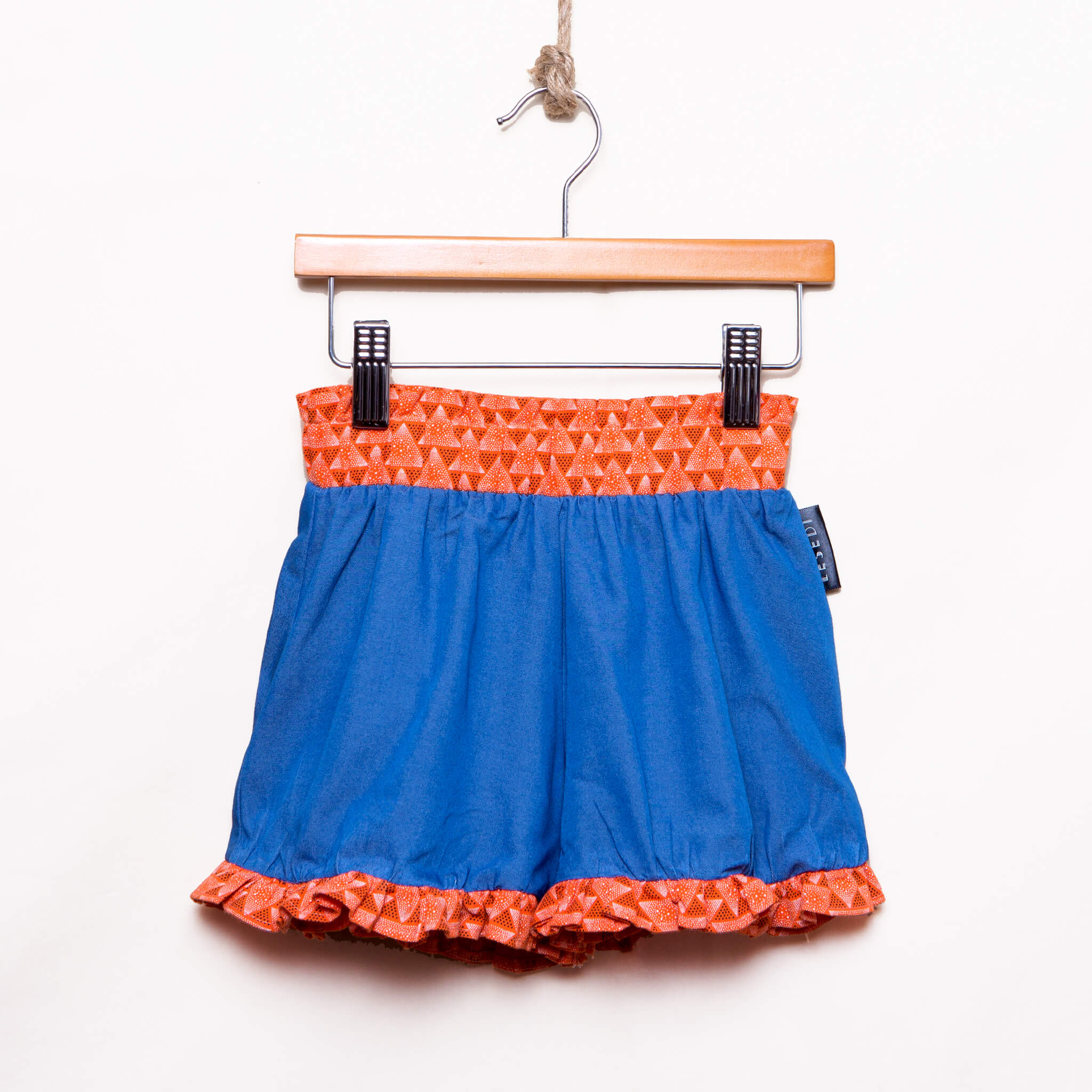 Girls Ruffle Hem Denim Shorts Zanele - LESEDI