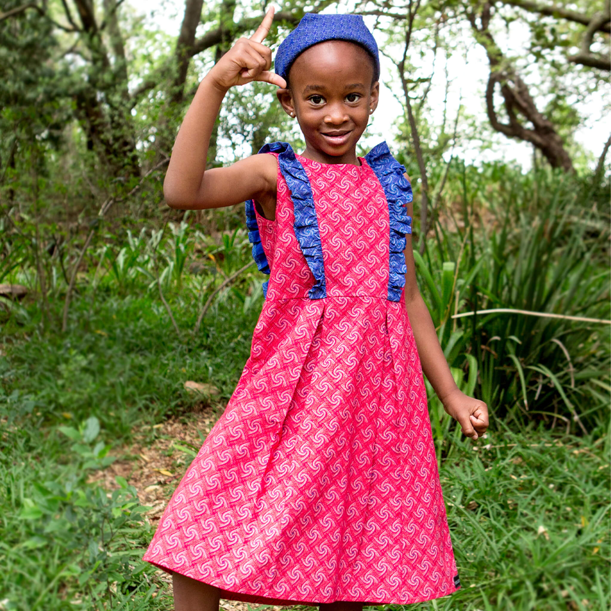 Girls Ruffle Party Dress Olwethu - LESEDI