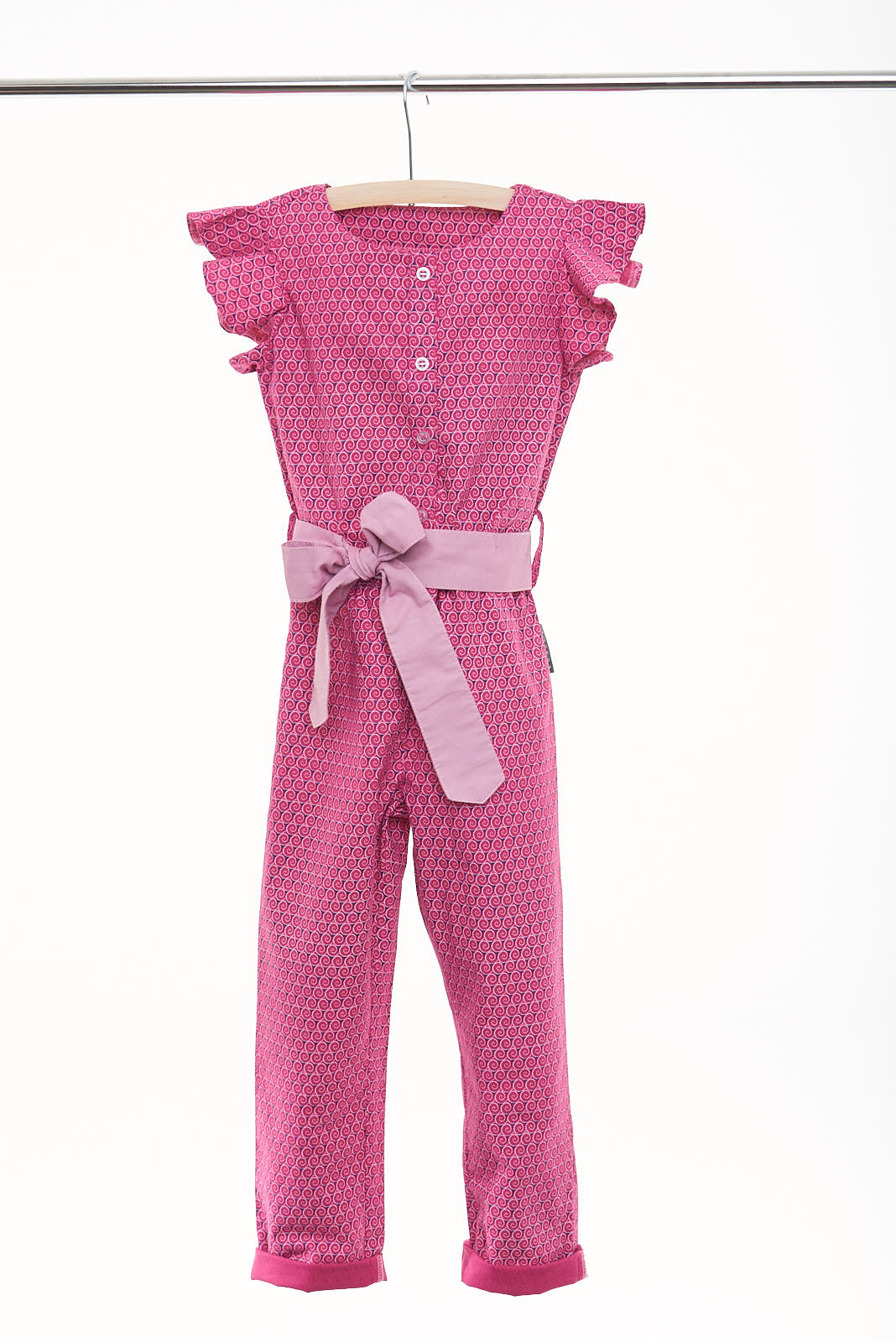 "Girls Short Sleeve Jumpsuit with Ruffles ""Iris"" - LESEDI"