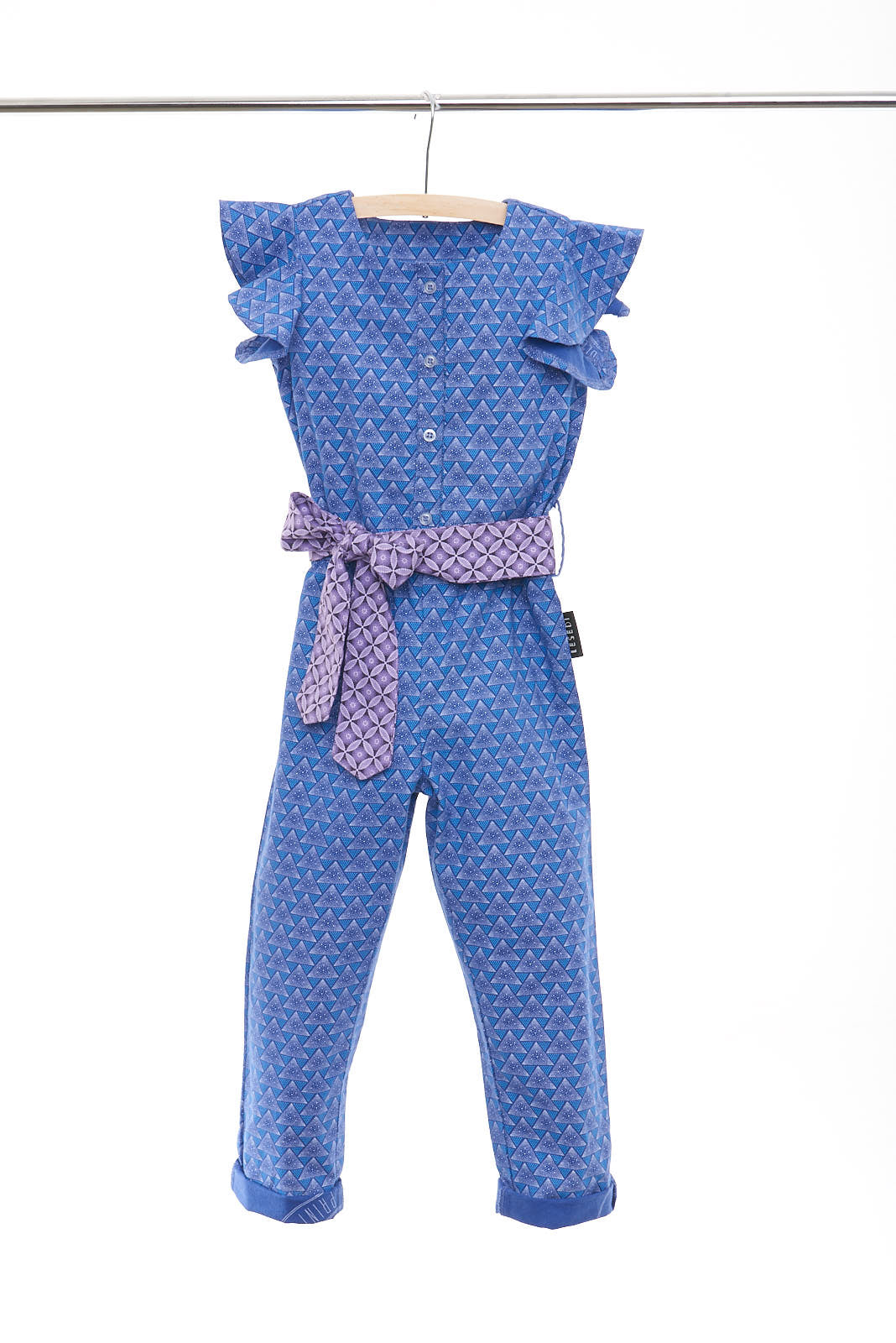 "Girls Short Sleeve Jumpsuit with Ruffles ""Nomthandazo"" - LESEDI"
