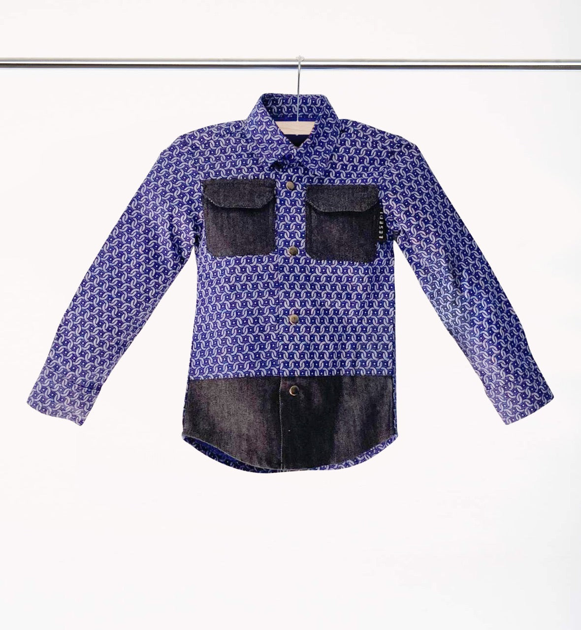 "Boys Long Sleeve Shirt Jacket ""Kagiso"" - LESEDI"