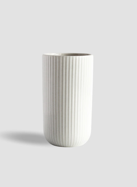 Tall White Column Coffee Cup