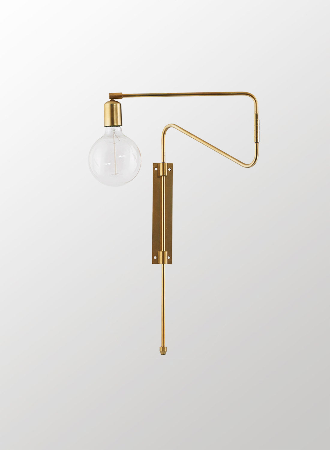 Swing Brass Wall Light