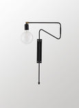swing black wall light