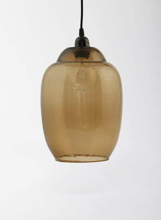smoked glass pendant shade
