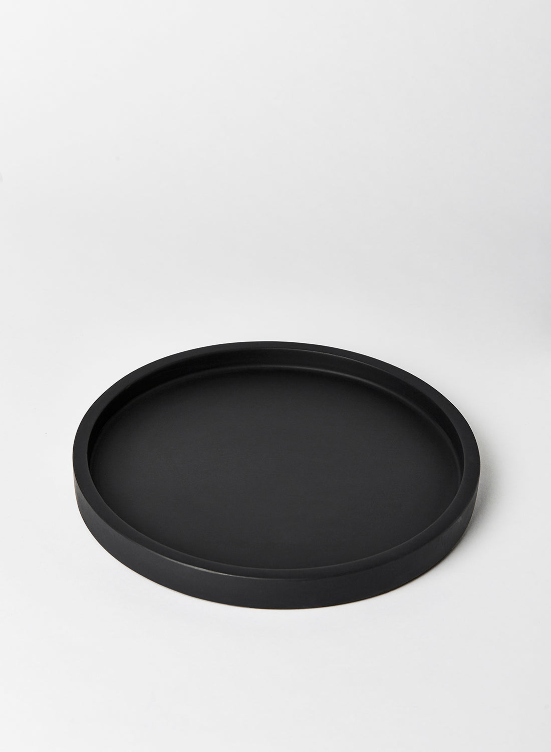 Black Round Concrete Tray