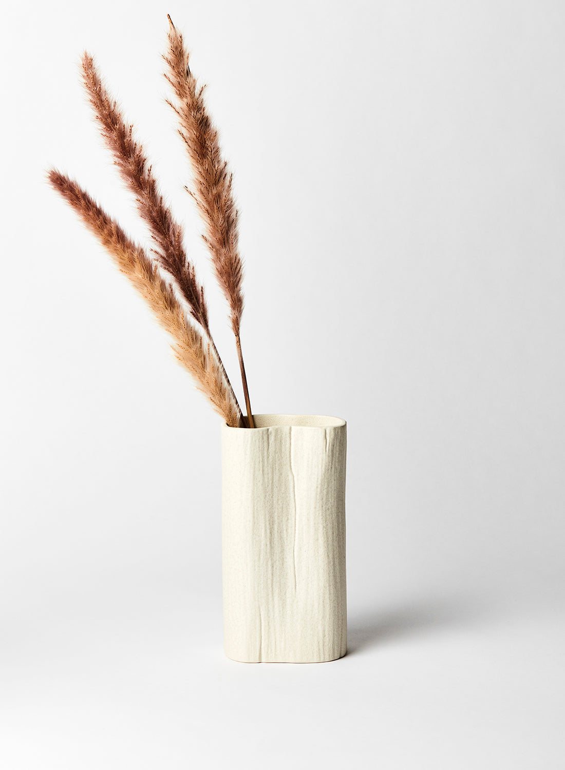 Cream Textured Ceramic Vase