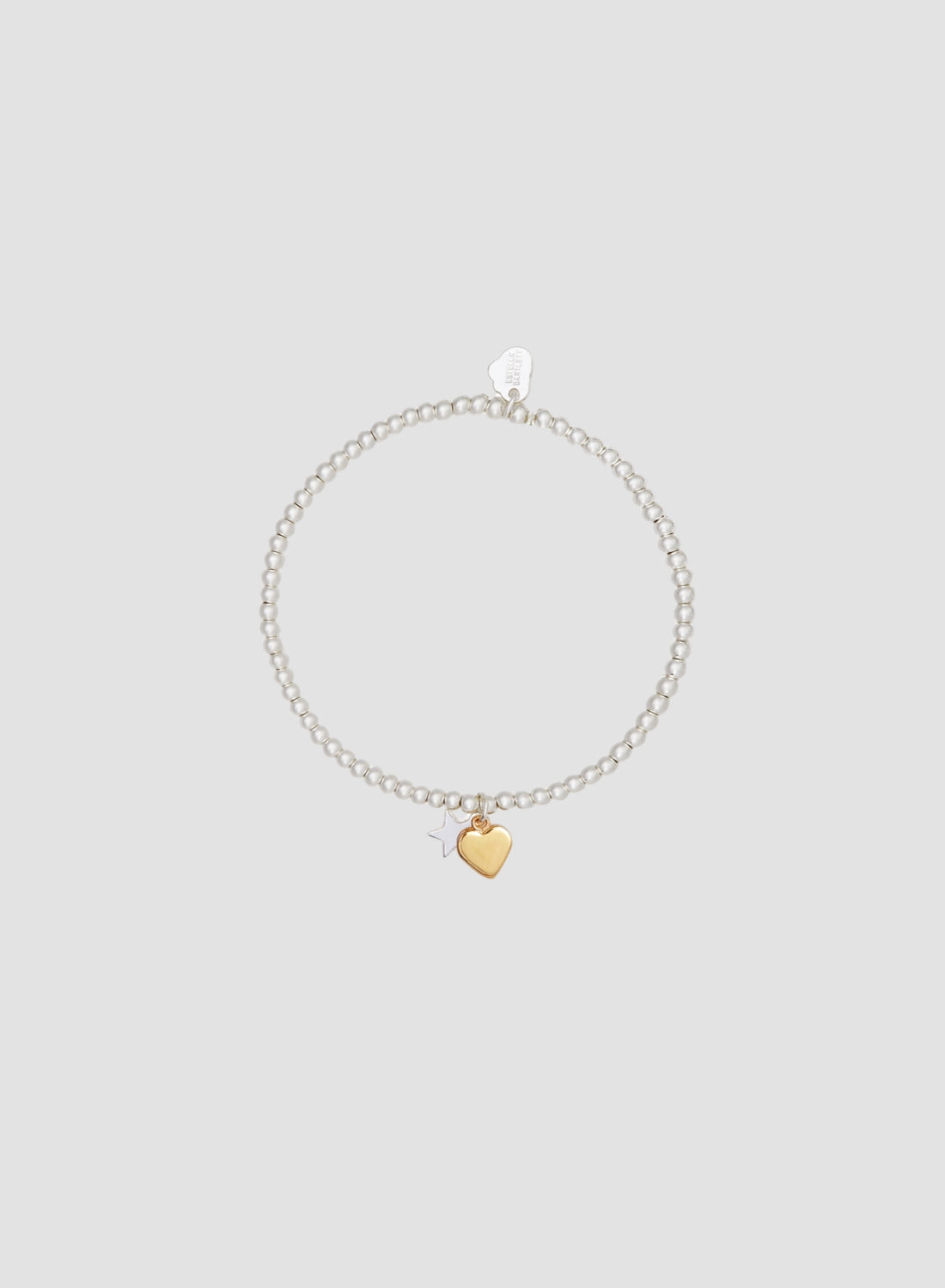 Gold Heart and Silver Star Bracelet