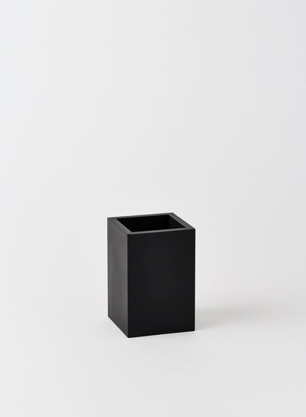 black rectangular rubber pot